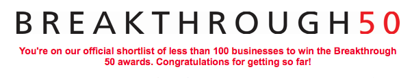 We had the honour of being shortlisted for the Smarta Breakthrough 50 this year!